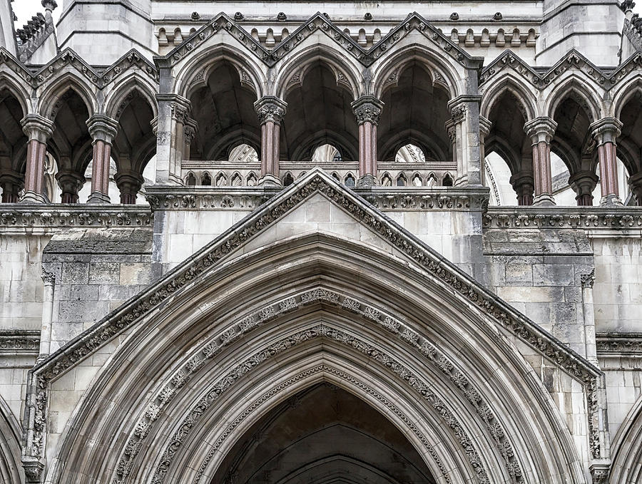 London Photograph - Entrance Arches by Shirley Mitchell