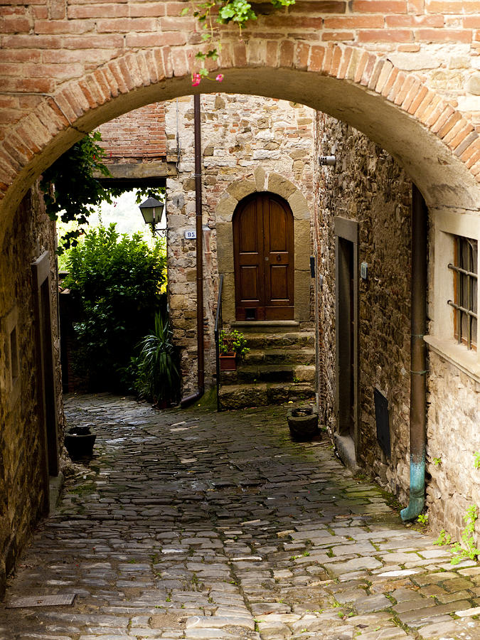 Montefioralle Photograph - Entrance by Rae Tucker