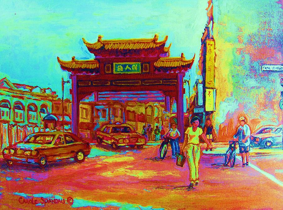 Montreal Painting - Entrance To Chinatown by Carole Spandau