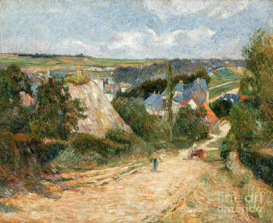 Paul Painting - Entrance To The Village Of Osny by Gauguin