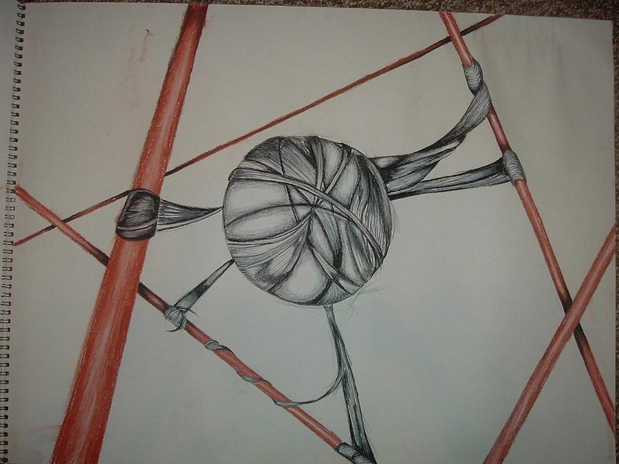 Entrapment Drawing by Hannah  Kallman