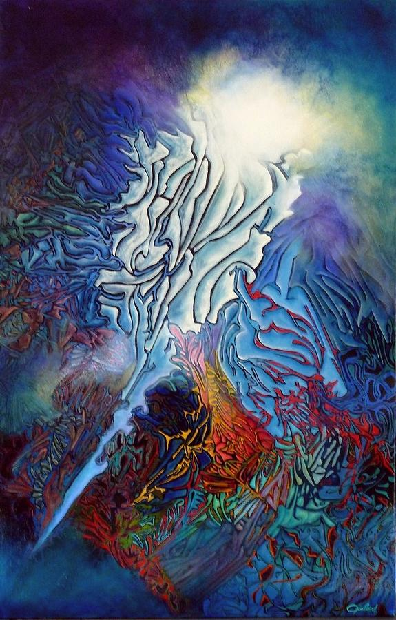 Abstract Painting - Entre Feu Et Glace by Bielen Andre