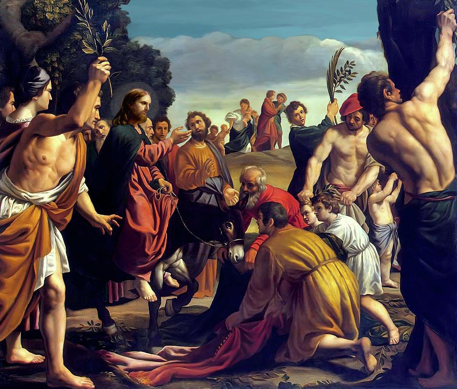 Palm Sunday Painting - Entry Into Jerusalem by After Pedro Orrente