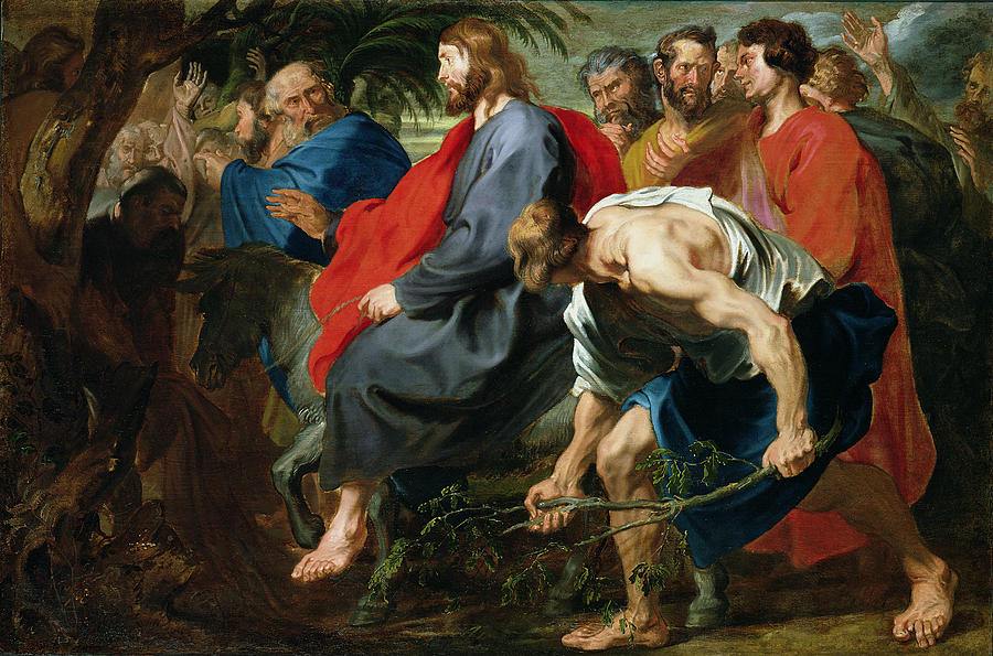 Jesus Painting - Entry Of Christ Into Jerusalem by Sir Anthony van Dyke