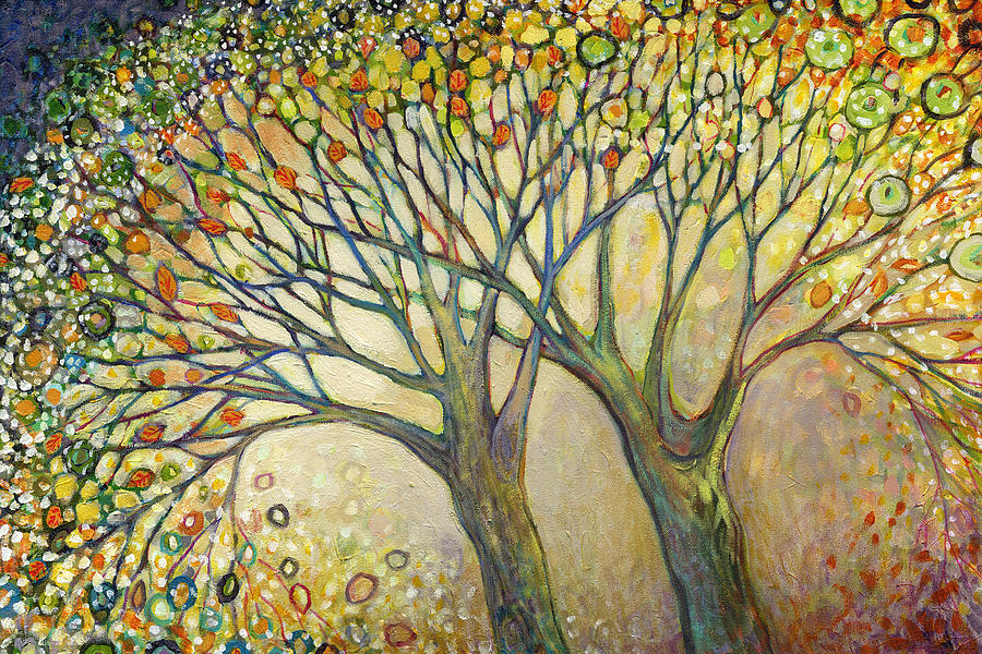 Tree Painting - Entwined No 2 by Jennifer Lommers