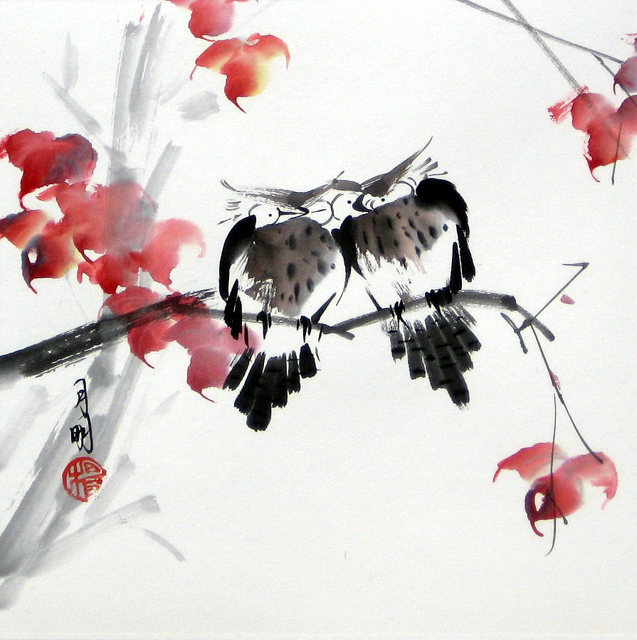 Chinese Painting Painting - Envoy Of Fall by Ming Yeung
