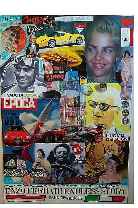 Enzo Ferrary Endless Story Mixed Media by Francesco Martin