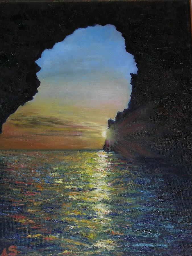 Landscape Painting - Eolie by Annalisa Scornavacche