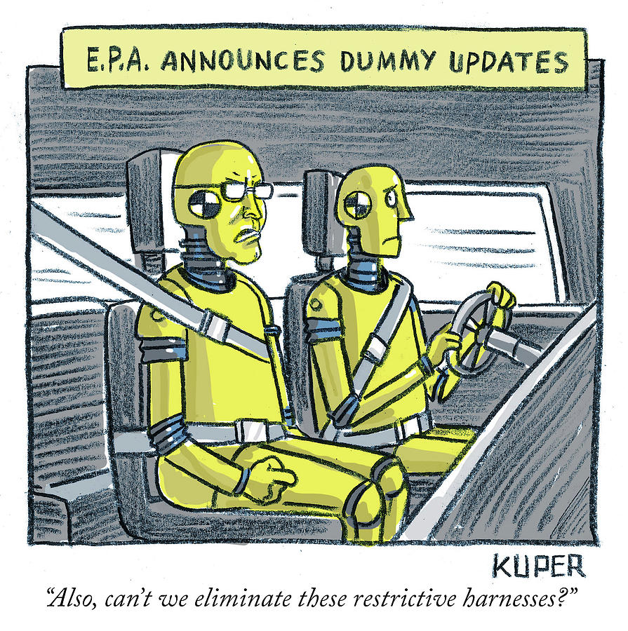 EPA Announces Dummy Updates Drawing by Peter Kuper