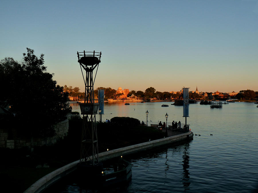 Epcot Photograph - Epcot At Dusk by Nora Martinez