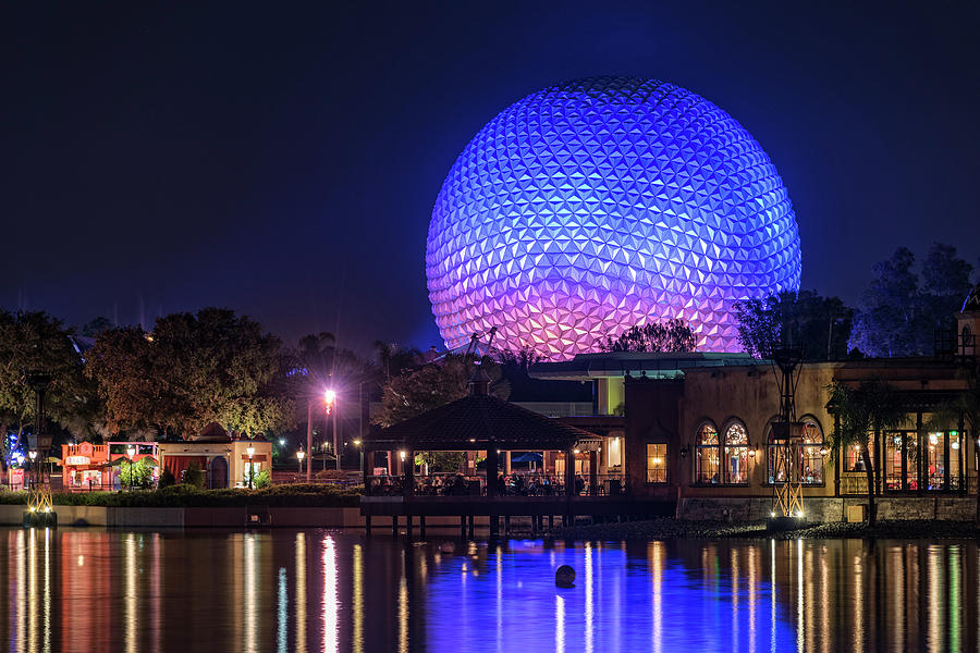 Epcot Center Sphere - Disney World Orlando Florida by Jim Vallee