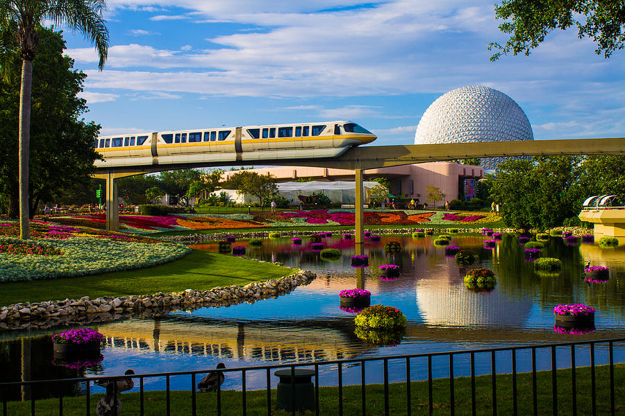 Epcot Photograph - Epcot - Disney World by Michael Tesar