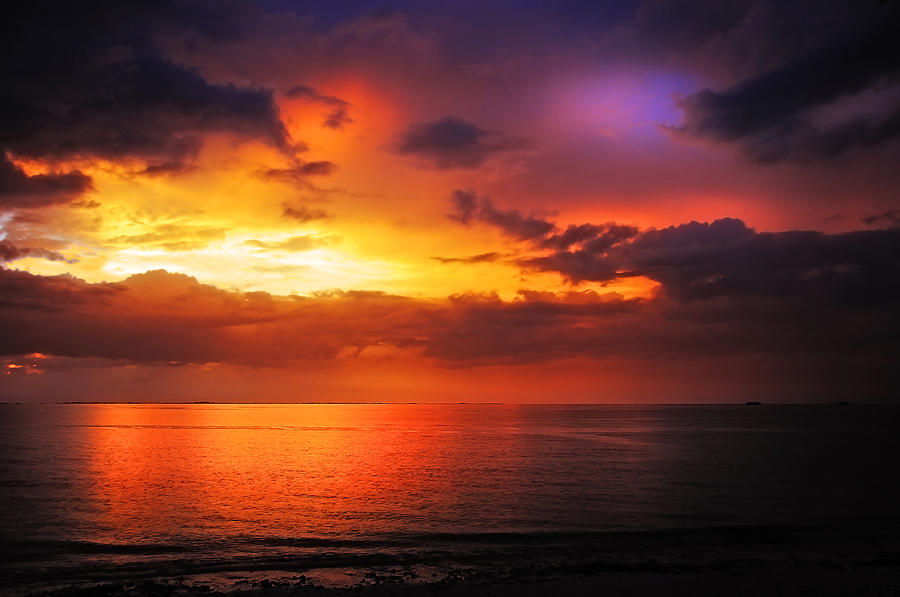 Sunset Photograph - Epic End Of The Day At Equator by Jenny Rainbow