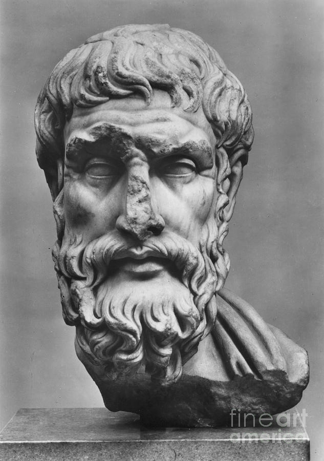 Ancient Photograph - Epicurus (342?-270 B.c.) by Granger