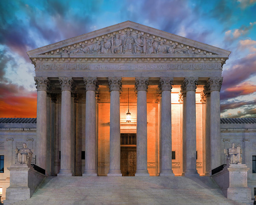 Supreme Court Photograph - Equal Justice Under Law by Daniel Hagerman