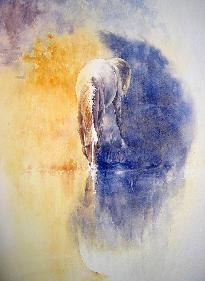 Horses Painting - Equanimity by Barbara Widmann
