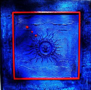 Blue Mixed Media - Equation  Bleue by Armand Elgrissy