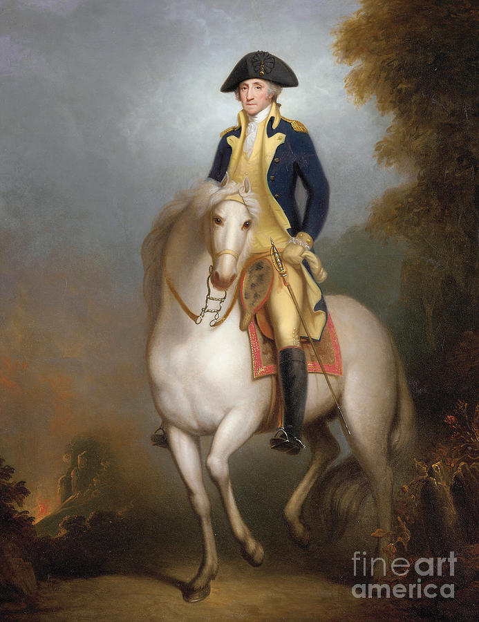 American History Painting - Equestrian Portrait Of George Washington by Rembrandt Peale