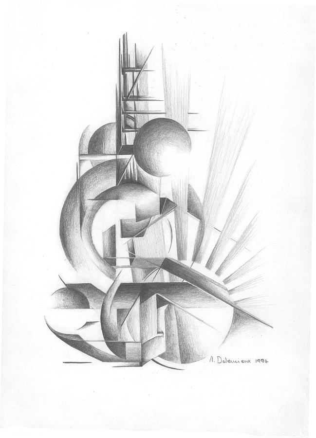 Abstract Drawing - Equilibre by Muriel Dolemieux