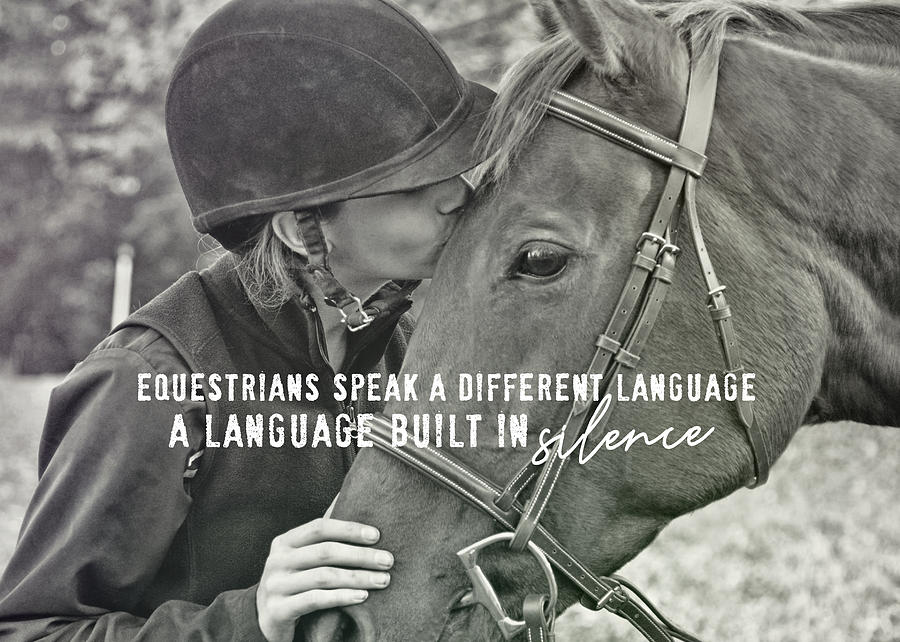 Horse Photograph - Equine Pact Quote by JAMART Photography