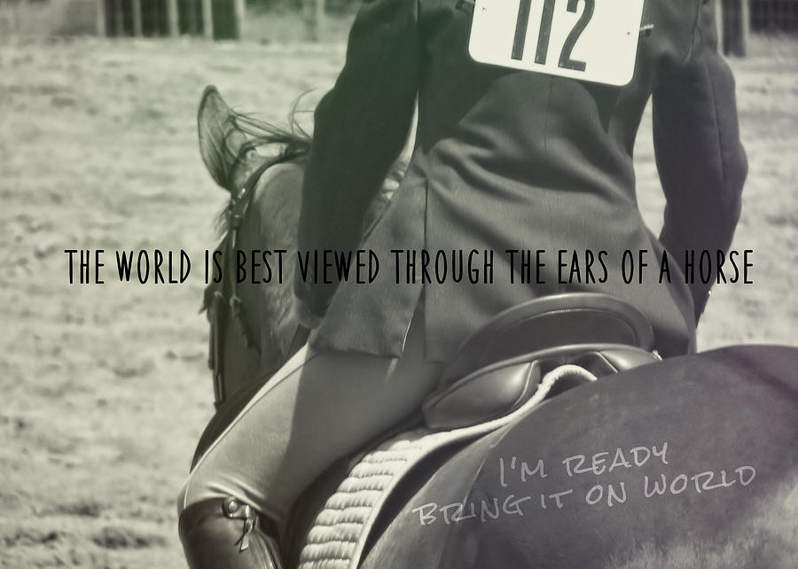 Horse Photograph - Equitation Quote by JAMART Photography