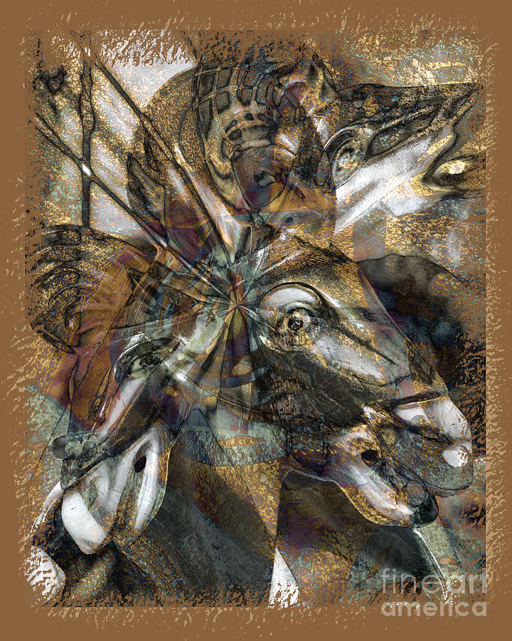 Horse Digital Art - Equus by Chuck Brittenham