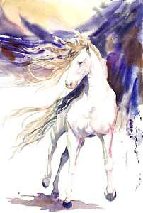 Horse Painting - Equus by H Lee Shapiro