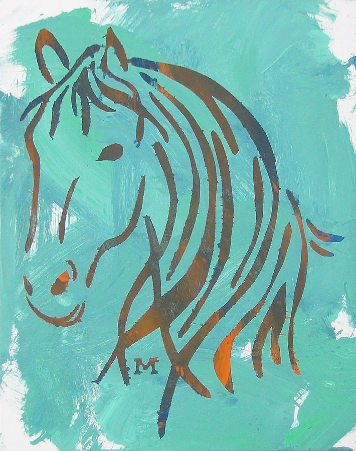 Horse Painting - Equus by Candace Shrope