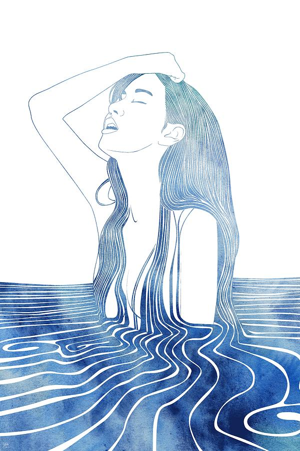 Aqua Mixed Media - Erato by Stevyn Llewellyn