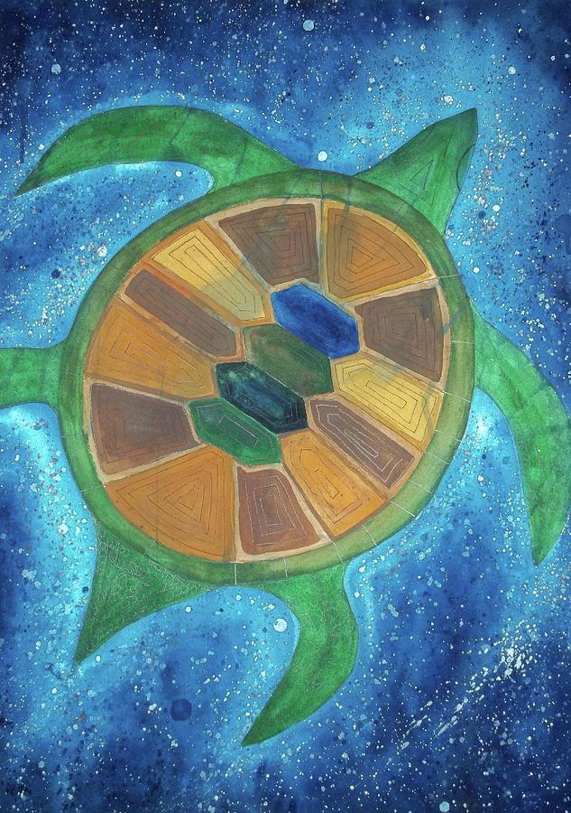Hawksbill Sea Turtle Painting - Eretmeochelys Imbricata by Scott Harrington