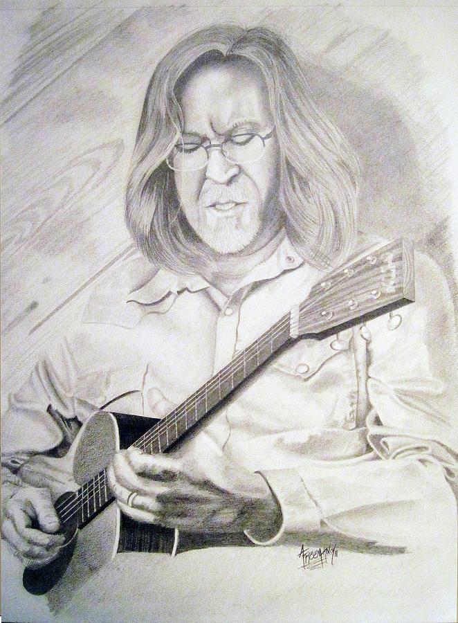 Eric Clapton Drawing by Aaron Freeman