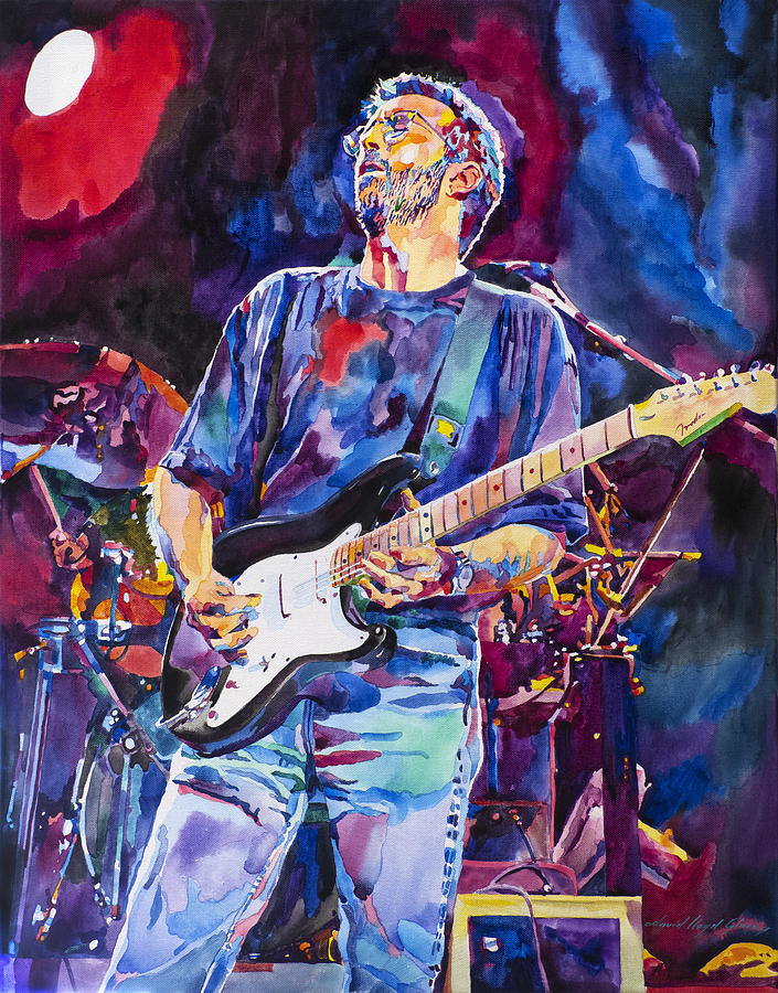 Eric Clapton And Blackie Painting By David Lloyd Glover