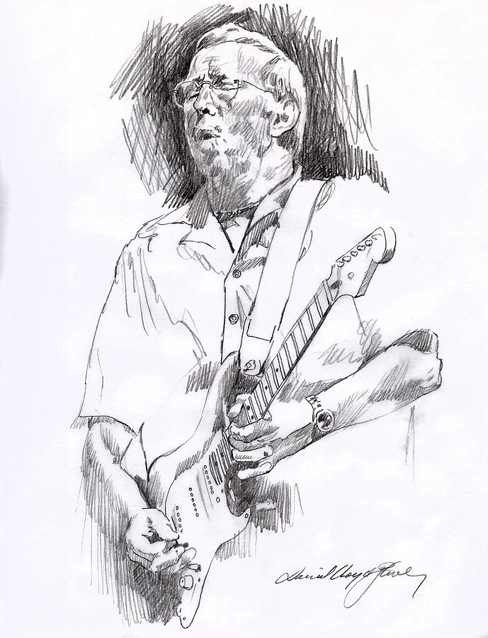 Eric Clapton Blue Drawing