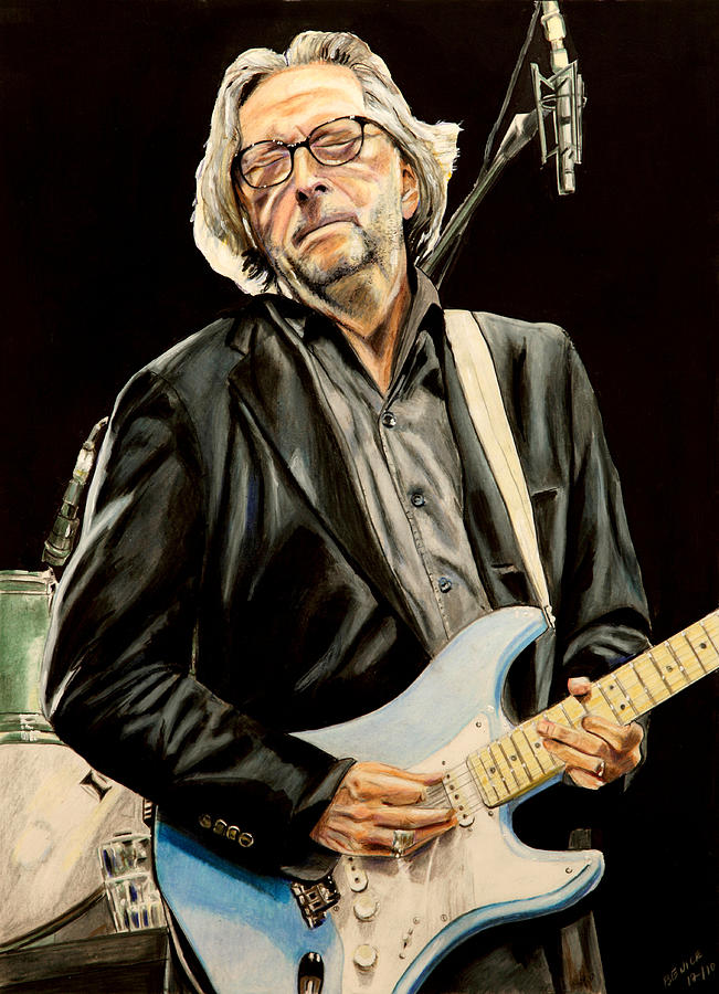 Eric Clapton Painting - Eric Clapton by Chris Benice