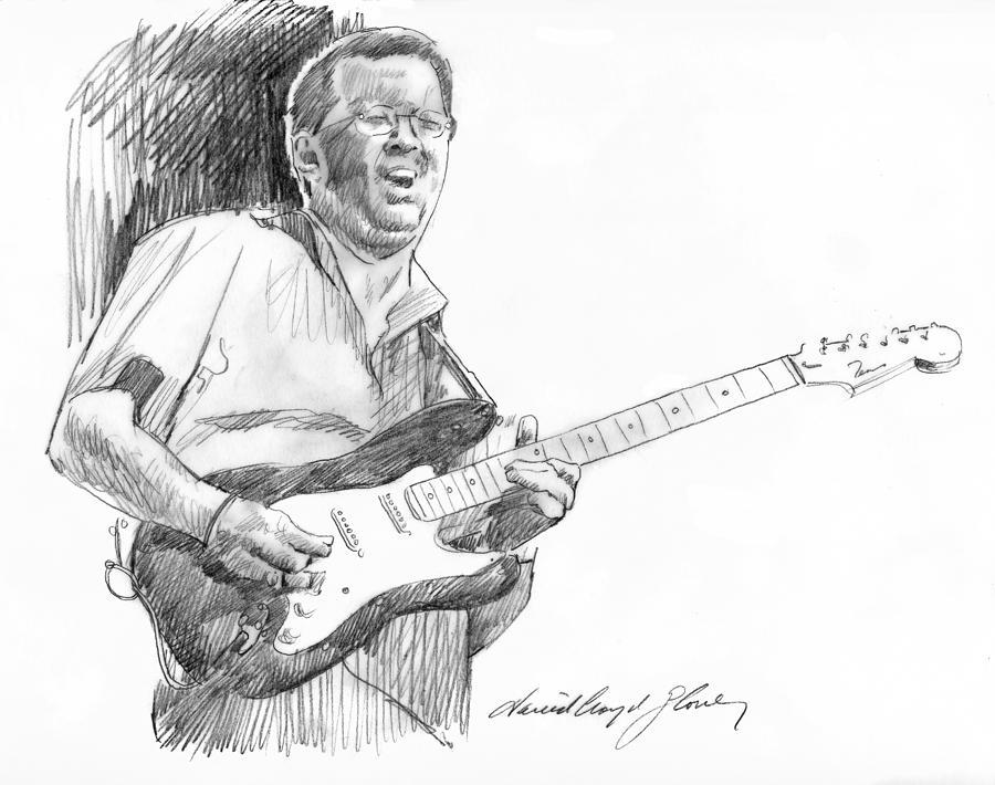 Eric Clapton Jam Drawing