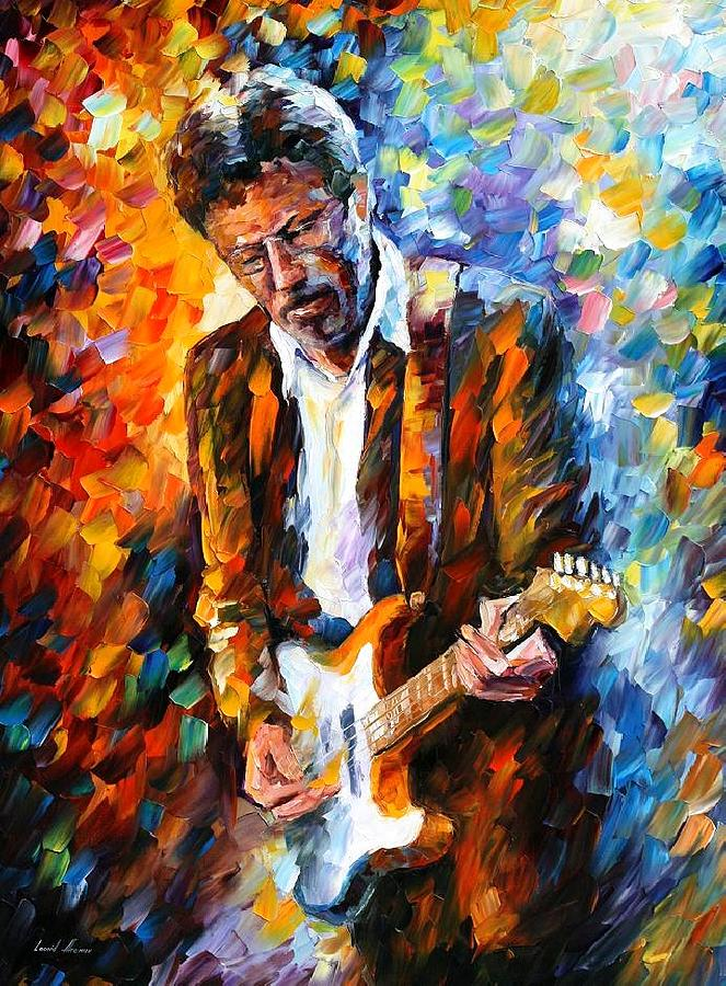 People Painting - Eric Clapton by Leonid Afremov