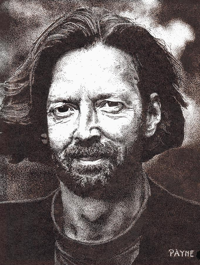 Portrait Drawing - Eric Clapton by Rob Payne