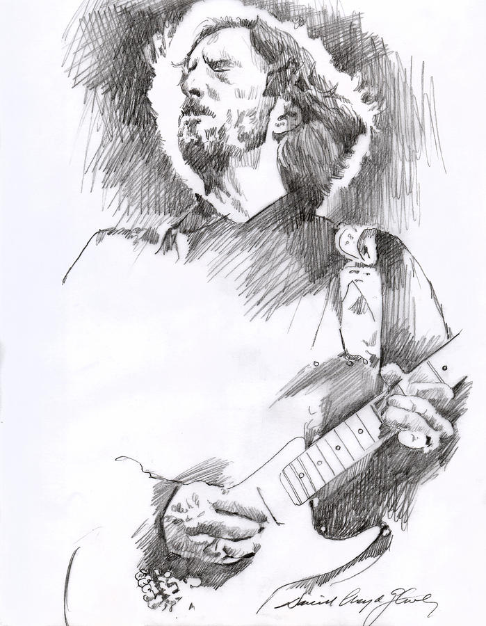 Eric Clapton Sustains Drawing