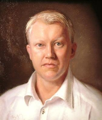 Portrait Painting - Erik by Tony Warren