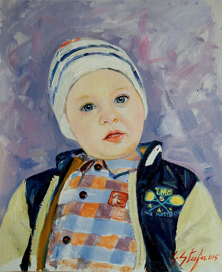 Child Painting - Erin - Trimi I Dibres				 by Sefedin Stafa
