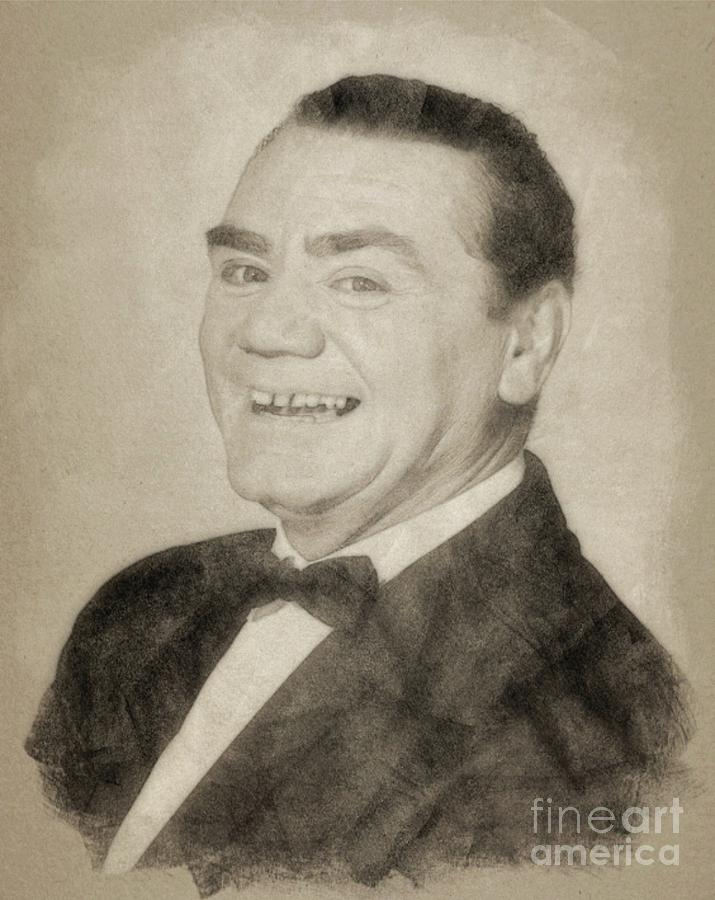 Hollywood Drawing - Ernest Borgnine Hollywood Actor by Esoterica Art Agency