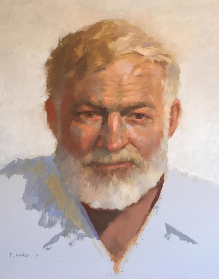 Ernest Hemingway Painting - Ernest Hemingway by Mike Hanlon