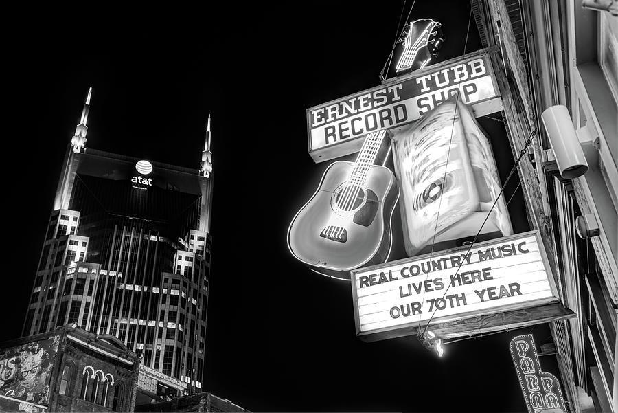 Ernest Tubb Record Shop - Downtown Nashville - Black And ...