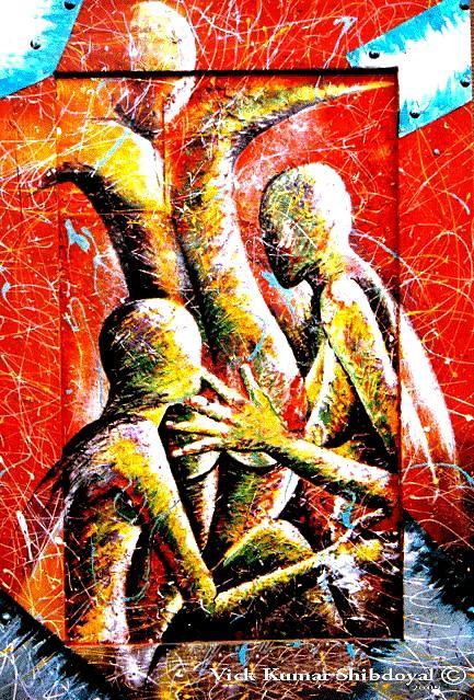 Ero-tica Painting by Vick Shibdoyal