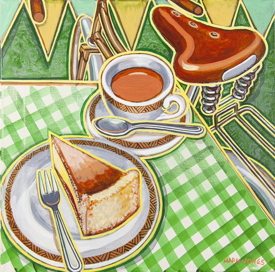 Eroica Painting - Eroica Britannia Bakewell Pudding And Cup Of Tea On Green by Mark Jones