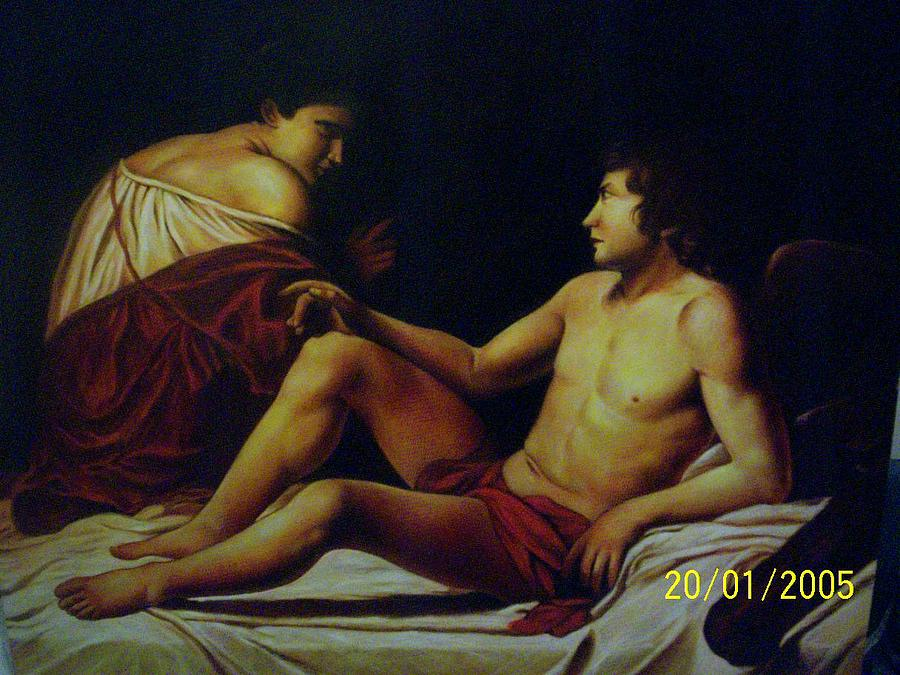 Caravaggio Painting - Eros An Phsique by Julio  Ariza Urbina