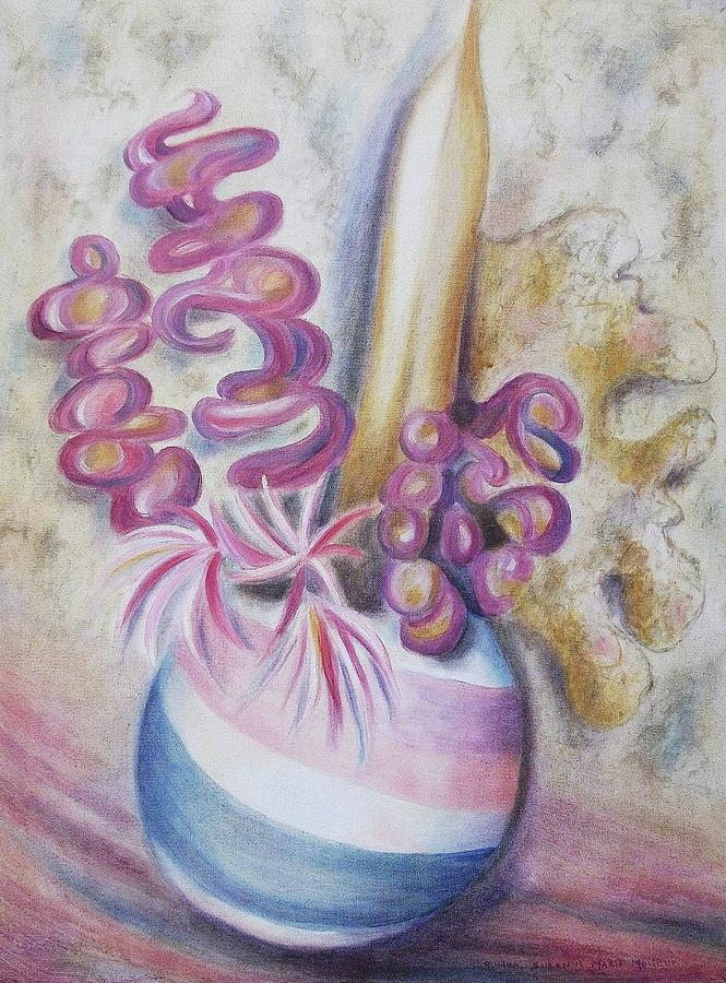 Bouquet Painting - Erotic Bouquet by Suzanne  Marie Leclair
