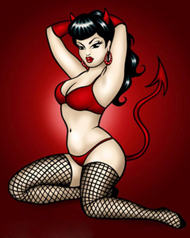Bad Girl Digital Art - Erotic Print by Alexis Yessy
