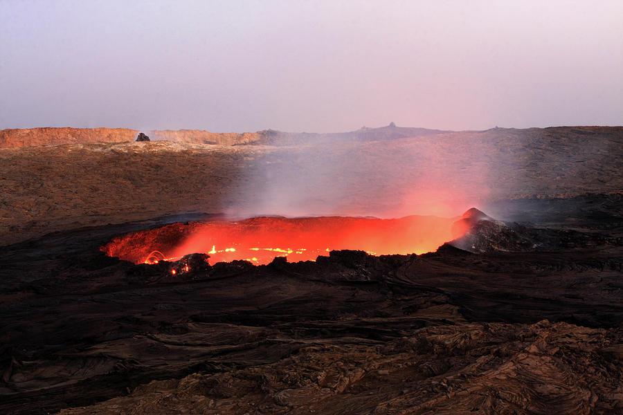 Volcano Photograph - Erta Ale Volcano by Aidan Moran