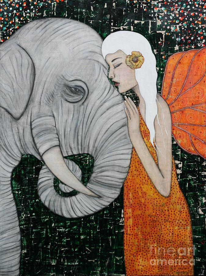 Elephant Painting - Erynn Rose by Natalie Briney